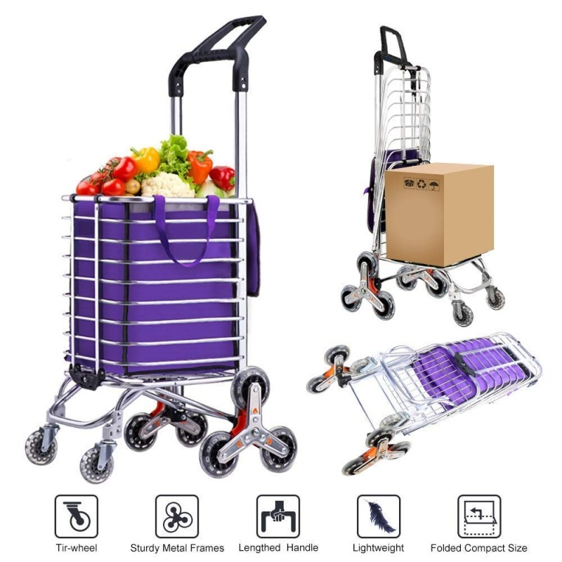 Multi-Function Foldable Groceries Shopping Cart