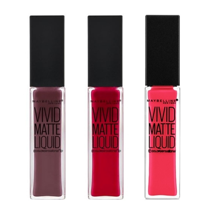 Maybelline Vivid Matte Lip Gloss 3 Pieces