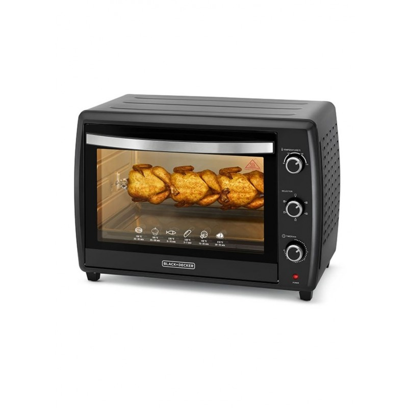 Black & Decker Oven with Rotisserie 70L 2200W - Black - New Product / Open Box