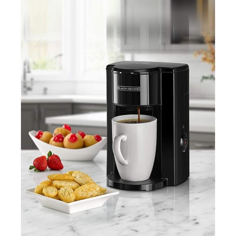 Black & Decker 330W Drip 1 Cup Coffee Maker + FREE Ceramic Mug