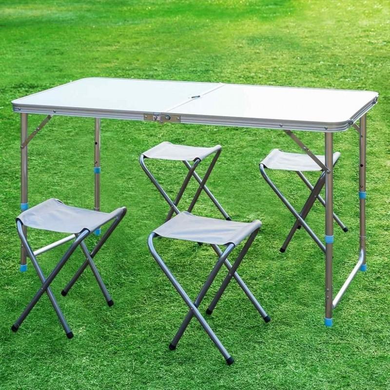 Aluminum Foldable Table And 4 Seats