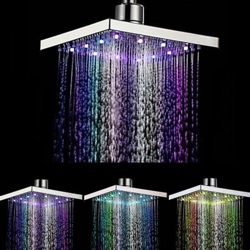 7 Colorful LED Shower Heads