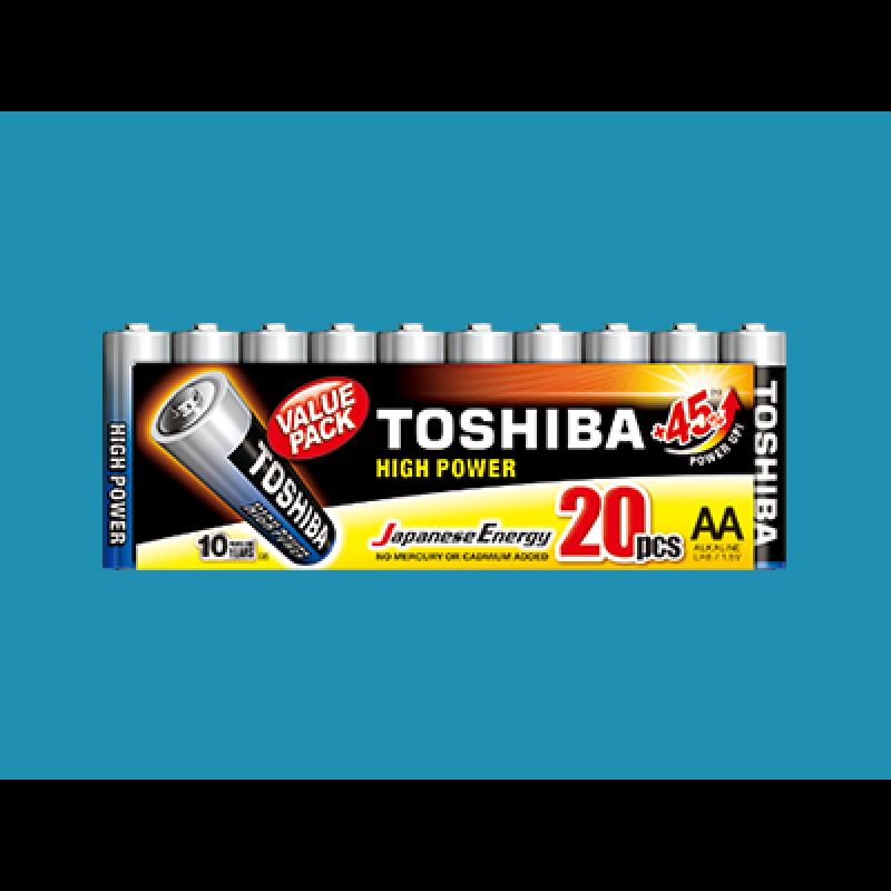 TOSHIBA Set of 20Pcs High Power AA Batteries