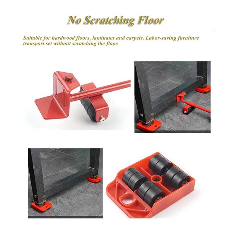 5 Pcs Set Furniture Moving Slider Maximum 150 Kg