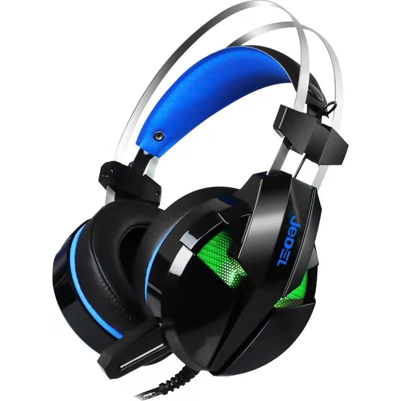 JEDEL RGB Wired Gaming Headset with Mic – Black
