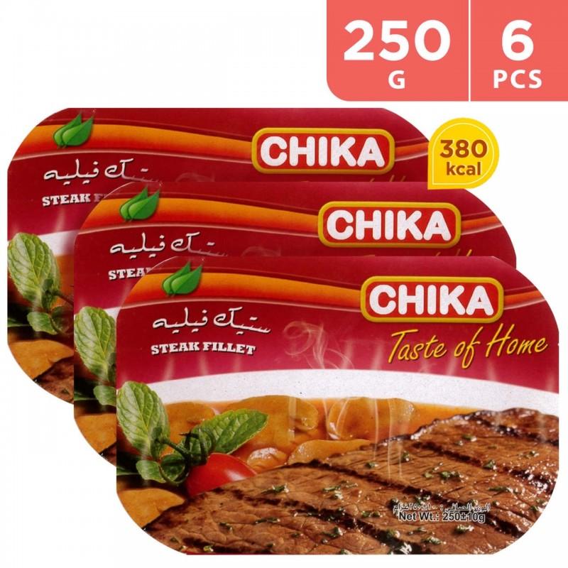 Chika Steak Filet Ready Meal 6 x 250 g