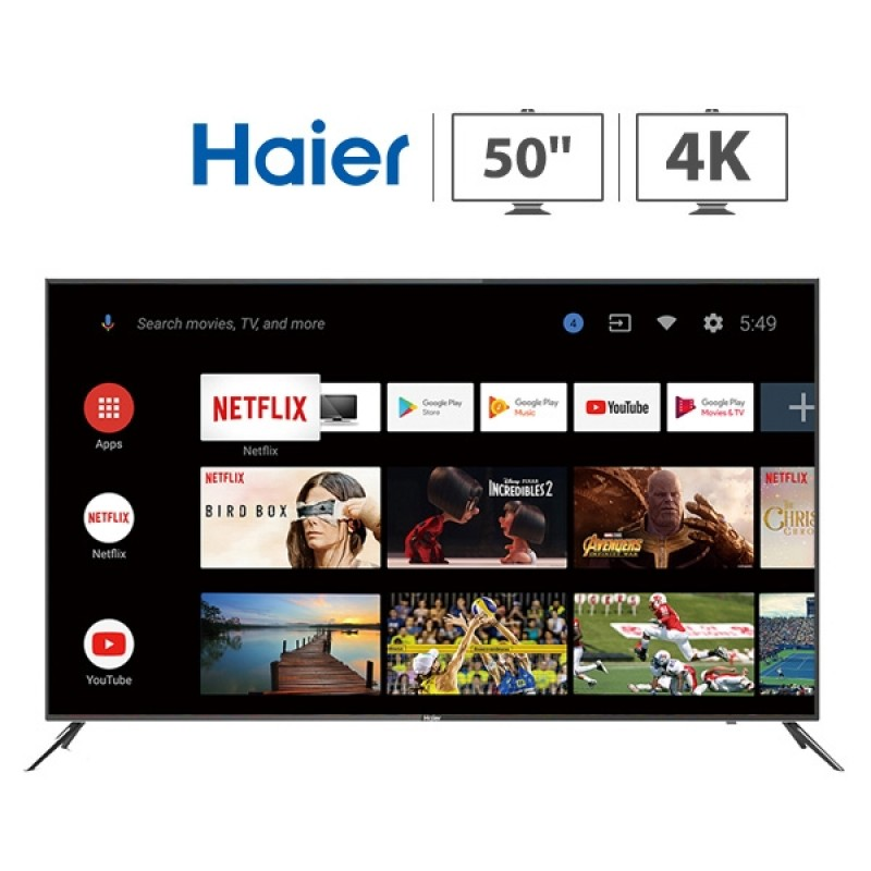 Haier 50 inch Smart Android 4K UHD LED TV