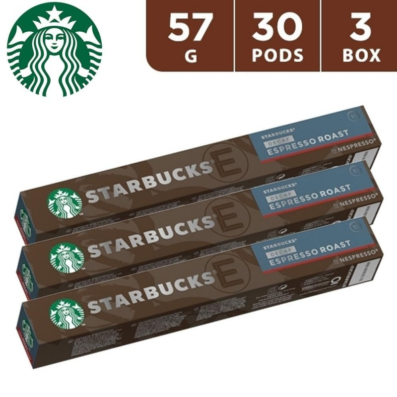 Starbucks Decaf Espresso Roast By Nespresso Dark Roast Coffee 57 g (30 Capsules)