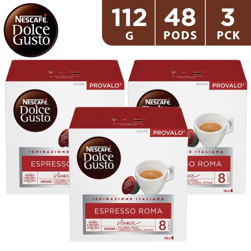 Nescafe Dolce Gusto Espresso Roma Coffee Capsules 3 x 112 g (48 Capsules)
