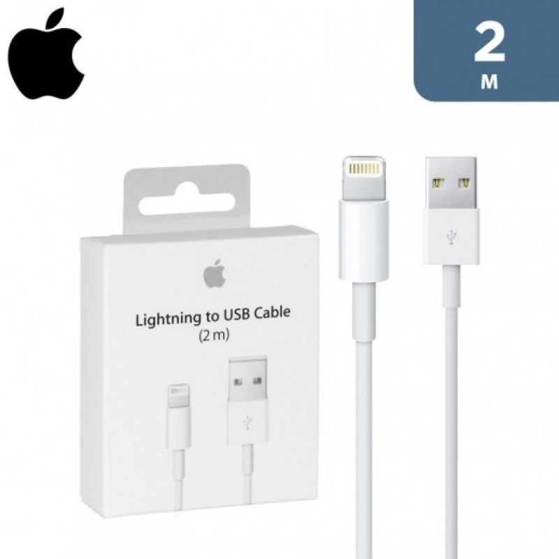 APPLE LIGHTNING TO USB CABLE 2M - WHITE