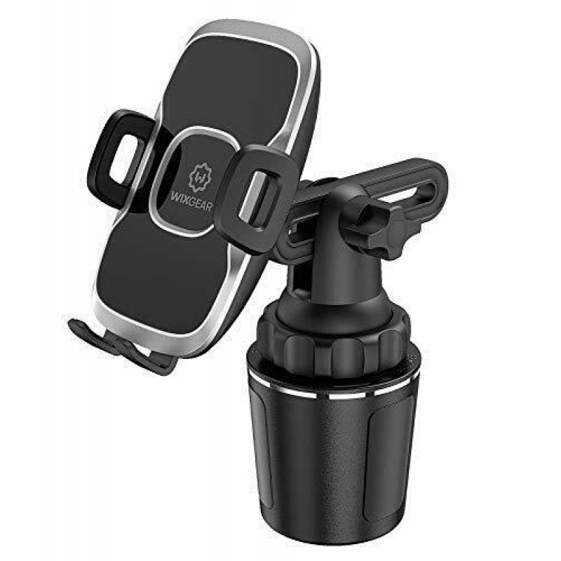 Wixgear Cup Mount Phone Holder - Black