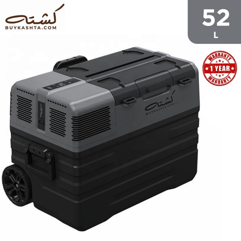 Kashta 52L Smart Fridge/Freezer - (Cooling to -20 C) - Portable - Trolley - AC and DC Cable input