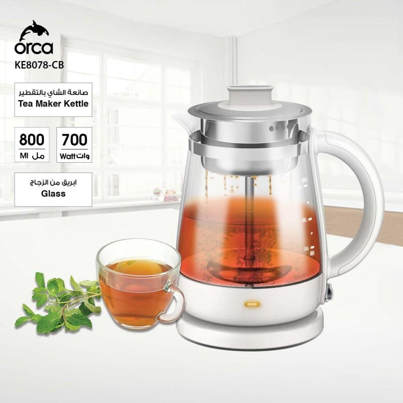 Orca 0.8 Liter 700W Tea Maker Kettle