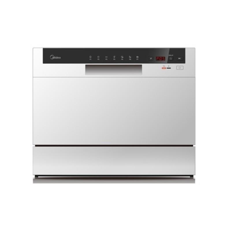 Midea 7 Programs 8 Place Settings Dishwasher - Silver