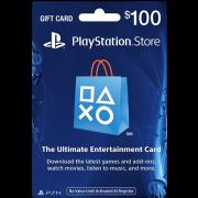 بطاقة شبكة سوني بلايستيشن بقيمة 100 دولار (الألعاب الأونلاين) للحسابات الأمريكية فقط