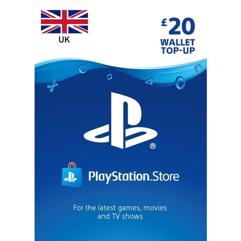 بطاقة شبكة سوني بلايستيشن قيمة 20 جنيه إسترليني للحسابات البريطانية