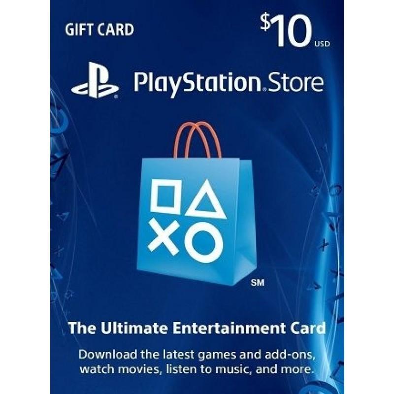 بطاقة شبكة سوني بلايستيشن بقيمة 10 دولار (الألعاب الأونلاين) للحسابات الأمريكية فقط