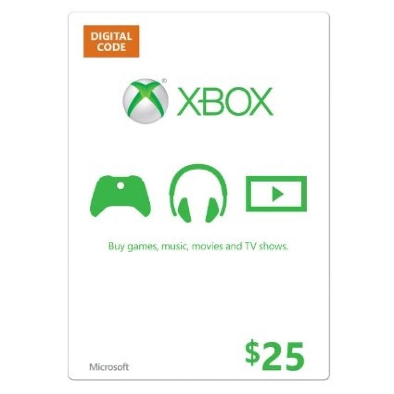 بطاقة XBOX بقيمة 25 دولار (الألعاب الأونلاين) للحسابات الأمريكية فقط