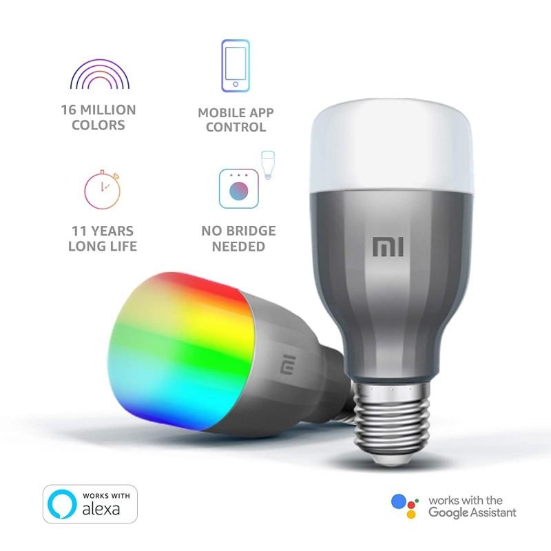 2 مصباح ذكي LED - أبيض وملون من Xiaomi