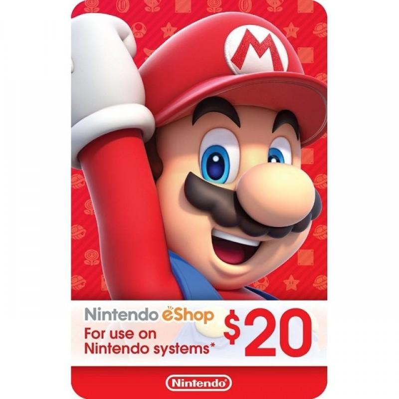 بطاقة NINTENDO بقيمة 20 دولار للحسابات الأمريكية