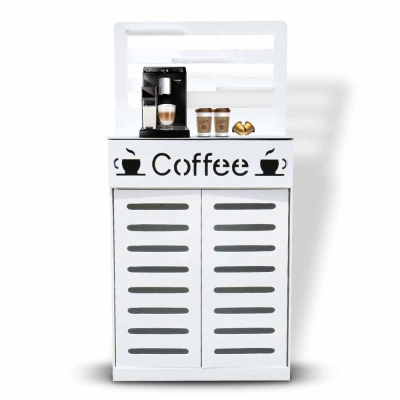 ركن القهوة الخشبي لتنظيم وترتيب مستلزمات القهوة