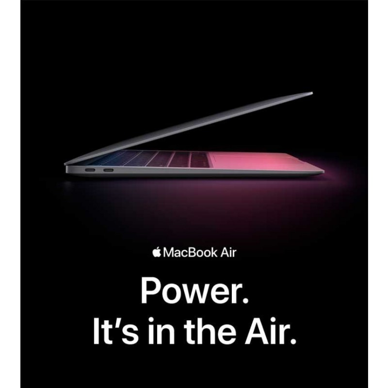 كمبيوتر محمول MacBook Air M1 حجم 13.3 بوصة (2020) رام 8 جيجابايت 256 جيجابايت SSD - رمادي من Apple